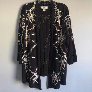Lauren Michelle embellished black cardigan XL